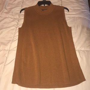 Brown sweater tank